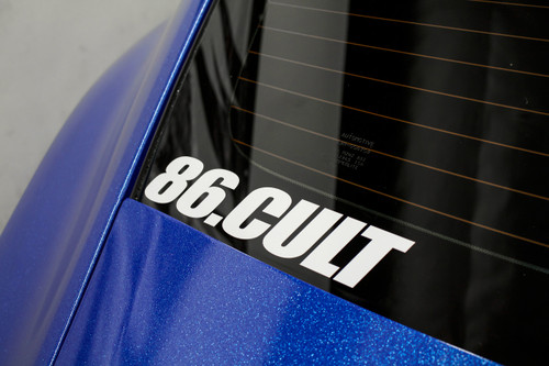 "86 Cult Decal ( 10"" White )"
