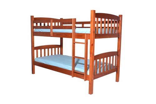 B016 Medium Oak Bunk Bed