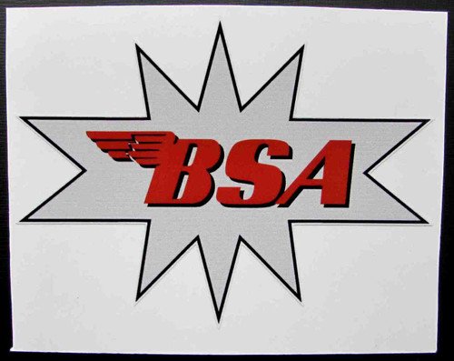 "BSA ""STAR"" CUSTOM GAS TANK DECAL 5"" X 3.75"""