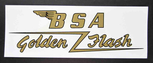 "BSA GOLDEN FLASH CUSTOM GAS TANK DECAL 7"" x 2.75"""