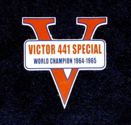 VICTOR 441 SPECIAL WORLD CHAMPION 1964-1965 GAS TANK DECAL