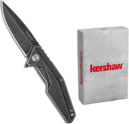 Kershaw Spring Assist Knife with a deck of cards