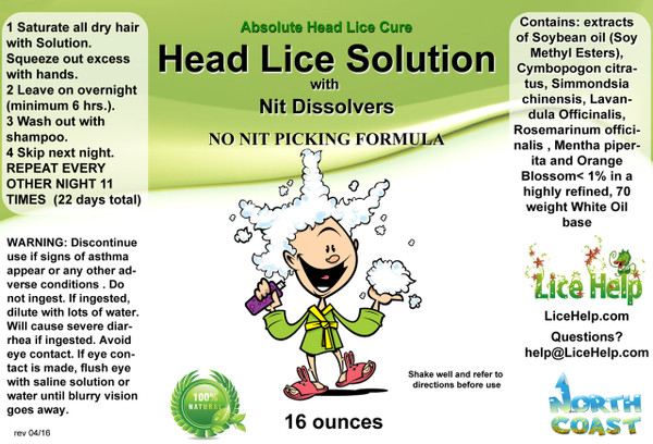 Head Lice Cure Full Label