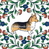 Red headed tricolor Pembroke Welsh Corgi dipping bowl from shepherds-grove.com.