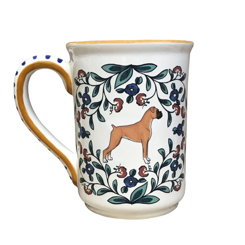 Handmade tan Boxer Dog Mug from shepherds-grove.com