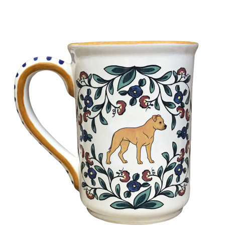 Tan Staffordshire Terrier Stein Mug from shepherds-grove.com