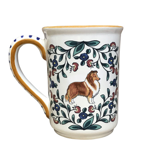 Handmade Sable Sheltie mug from shepherds-grove.com