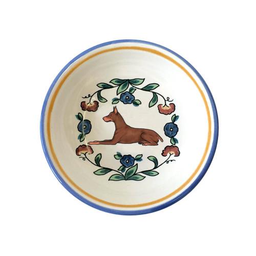 Red Doberman Pinscher ring dish / dipping bowl from shepherds-grove.com