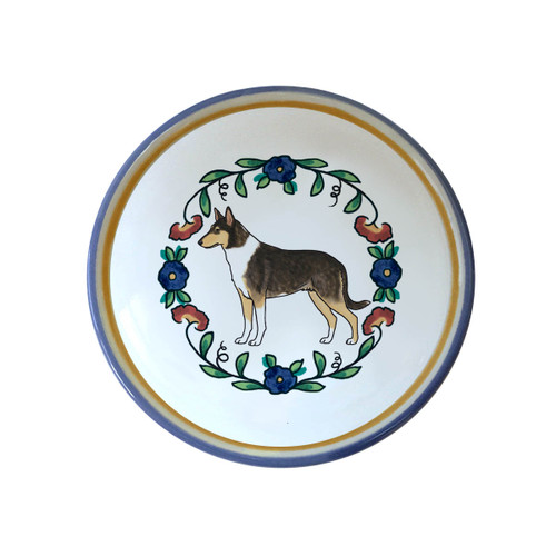 Tricolor Smooth Collie ring dish / dipping bowl from shepherds-grove.com