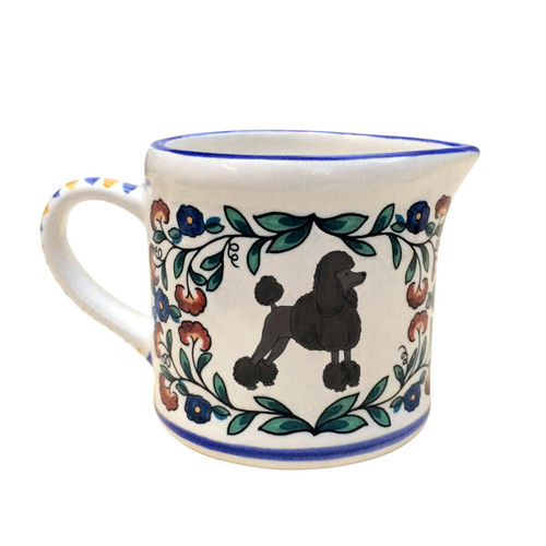 Black Poodle (with show-cut) creamer - handmade by shepherds-grove.com