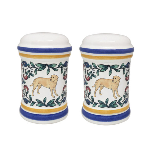 Yellow Lab salt and pepper shaker set - handmade by shepherds-grove.com