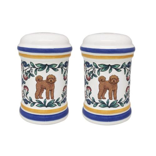 Labradoodle salt and pepper shaker set by shepherds-grove.com