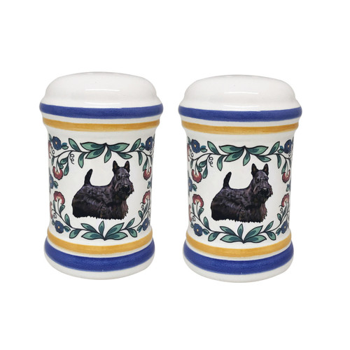 Colorful Scottish Terrier salt and pepper shakers by shepherds-grove.com