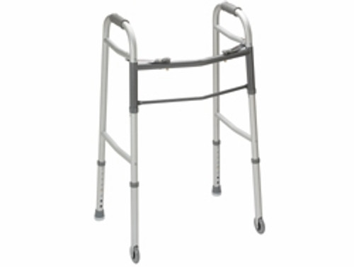 Guardian Palm Release Youth Folding Walker with 5 Inch Wheels