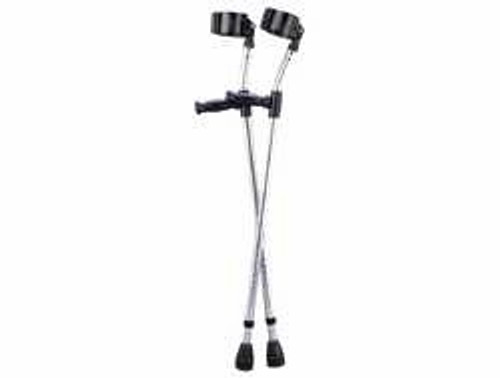 Guardian Youth Forearm Crutches, Adjust 4'2 in. - 5'2 in., 1 Pair