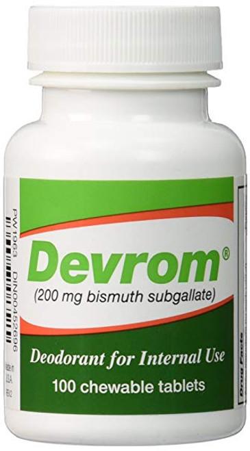 Devrom Internal Deodorant Chewable Tablets 100 Count