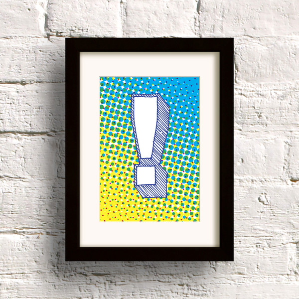 Pop print in Yellow/Cyan by Dig The Earth