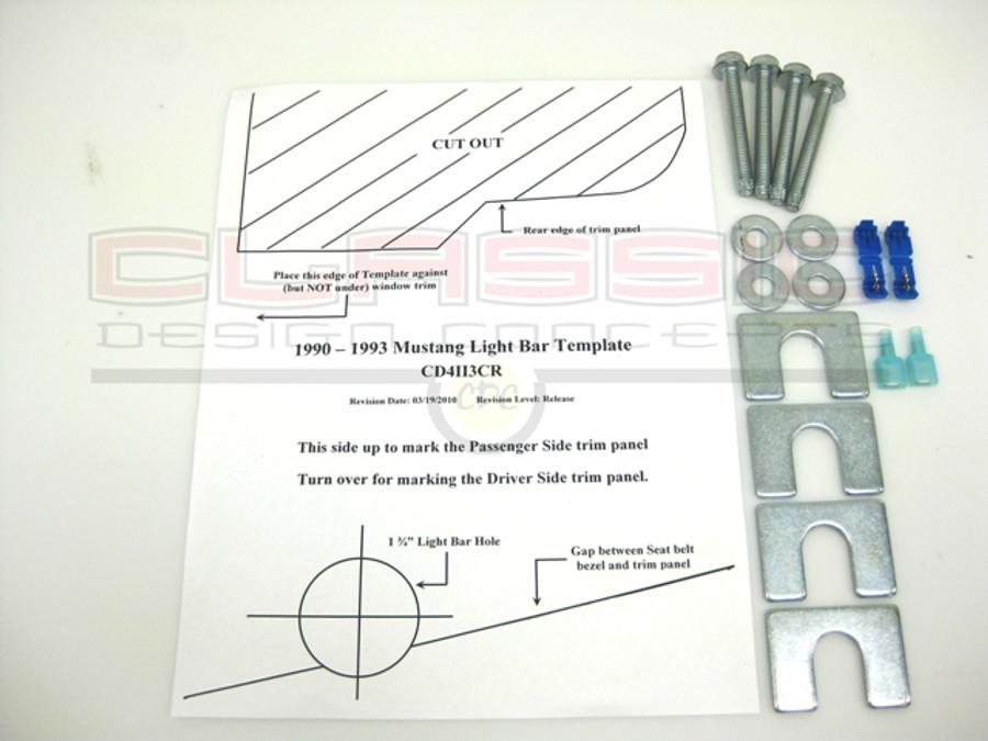 1987 14 mustang lightbar hardware kit buy on cdc 181006 90 93 mustang light bar hardware kit aloadofball Images