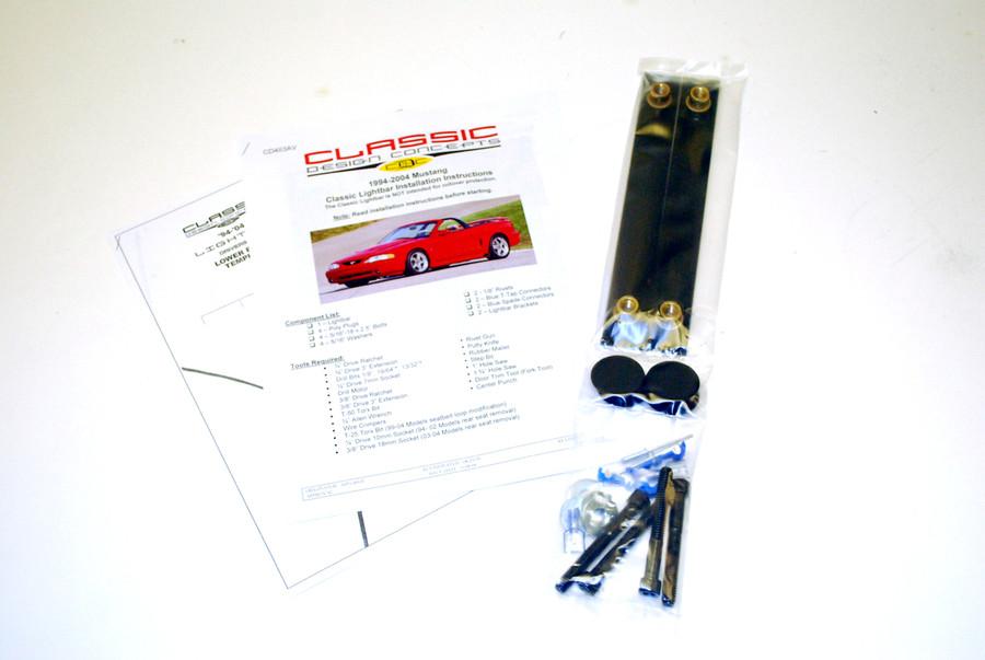 #181007 - 94-04 Mustang Light Bar Hardware Kit