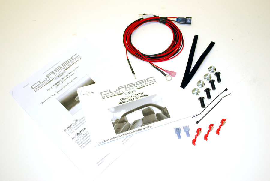 #112000-iL - 05-14 Mustang iLight Bar Hardware Kit (with interior LED dome light option)