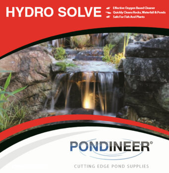 Rock cleaner.  Algae control.  HydroSolve Rock & Waterfall Cleaner.