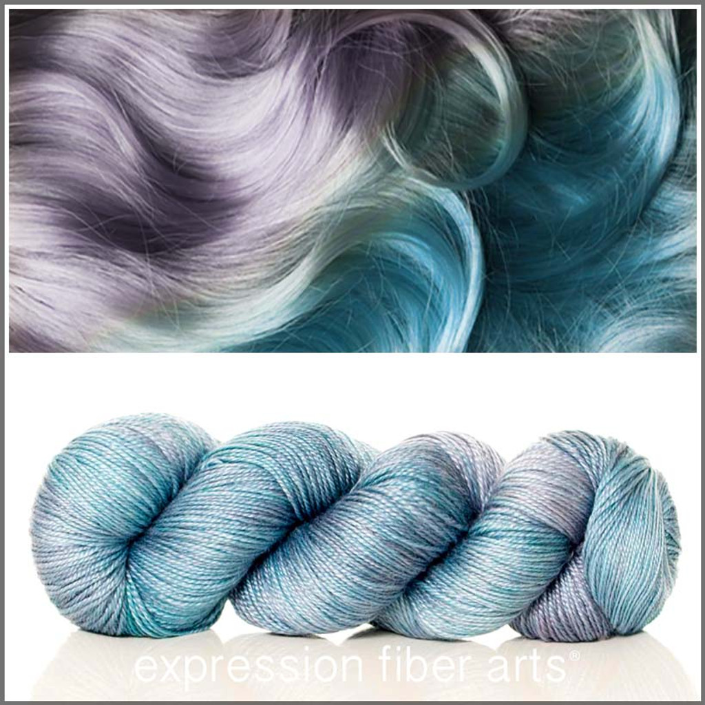 MERMAID HAIR 'LUSTER' SUPERWASH MERINO TENCEL SPORT