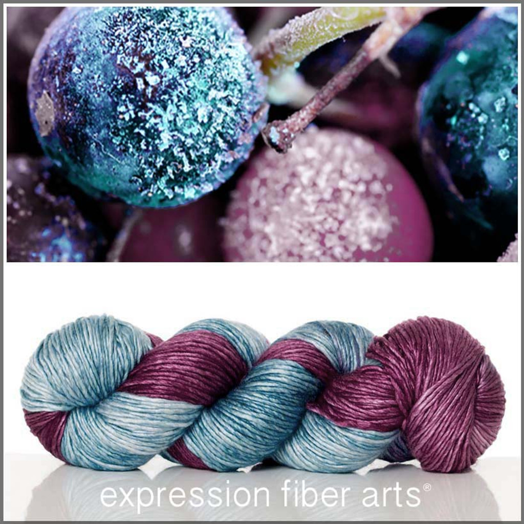 BERRY STAIN SUPERWASH MERINO SILK PEARLESCENT WORSTED