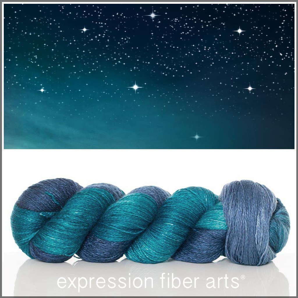 STARRY NIGHT YAK SILK LACE YARN