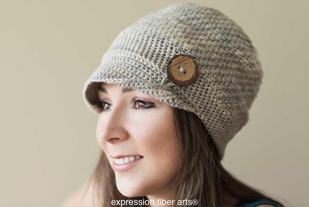 Buttoned Emma Hat Crochet Pattern