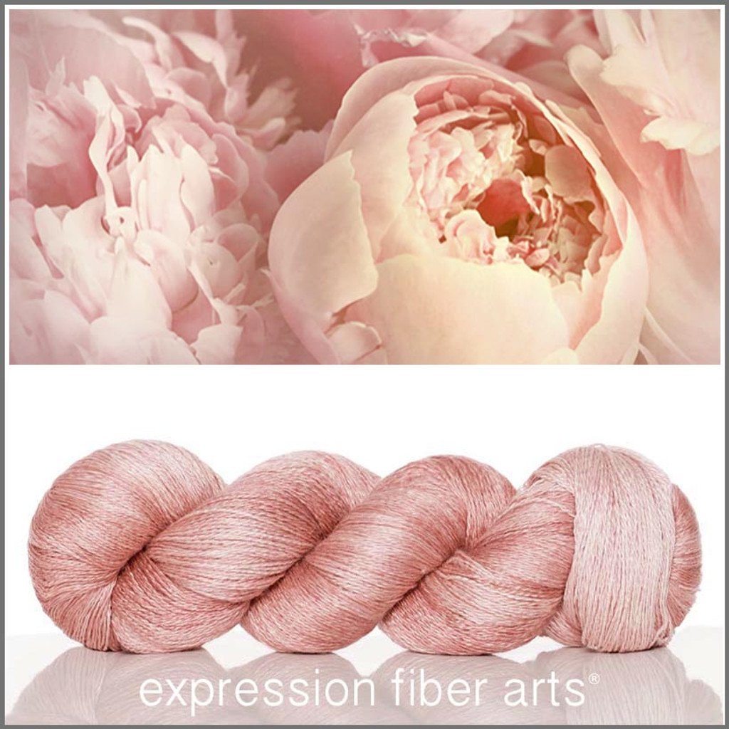 PEACEFUL PEONY YAK SILK LACE YARN