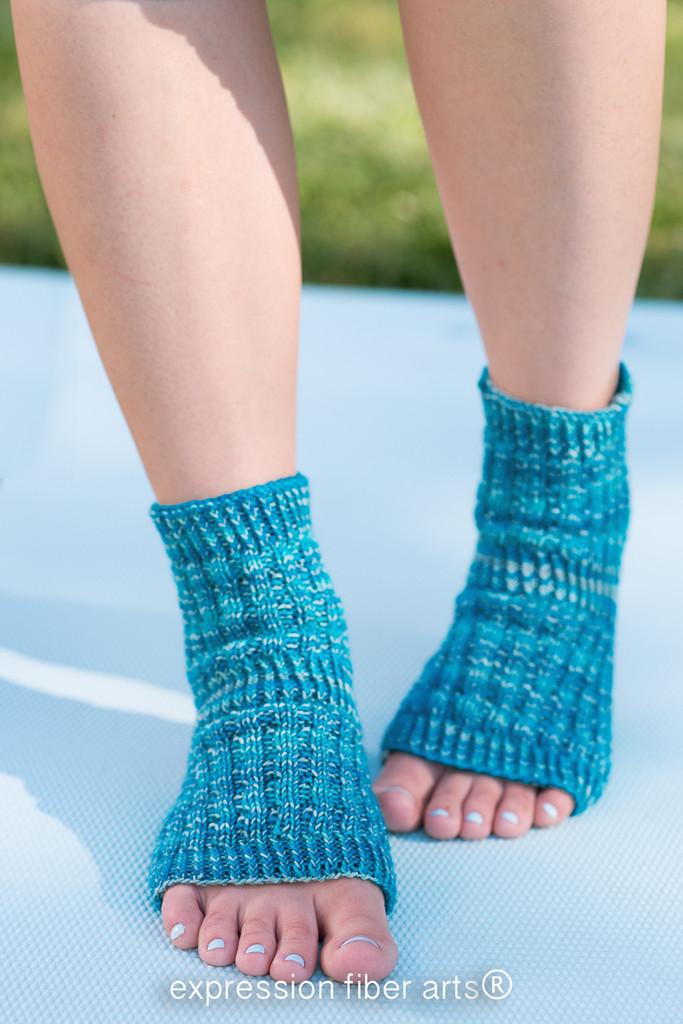 Asana Knitted Yoga Sock Pattern