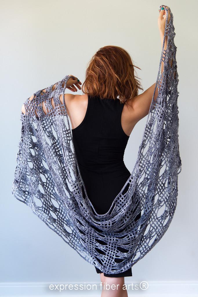 Hoover Dam Crochet Shawl Pattern