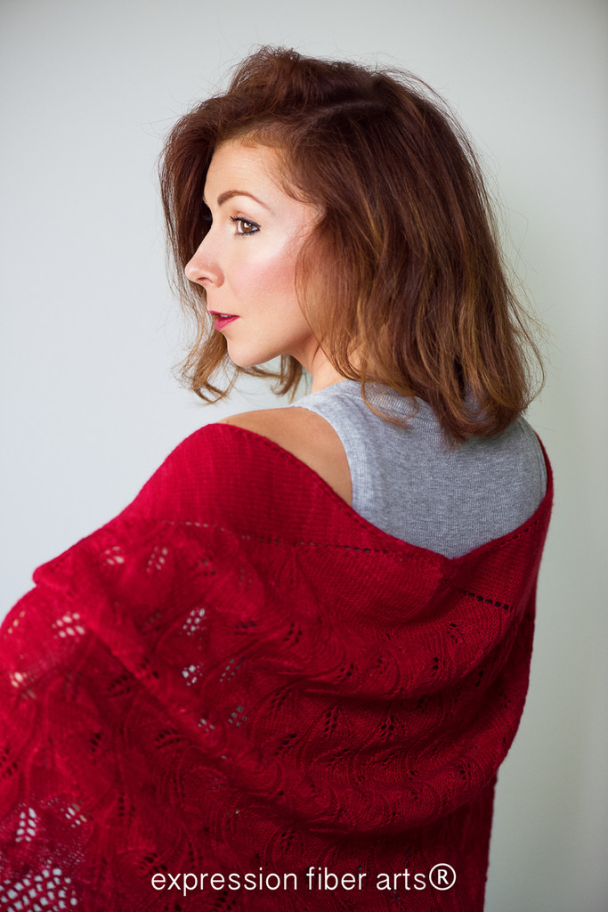 Autumn Cascade Knitted Shawl Pattern