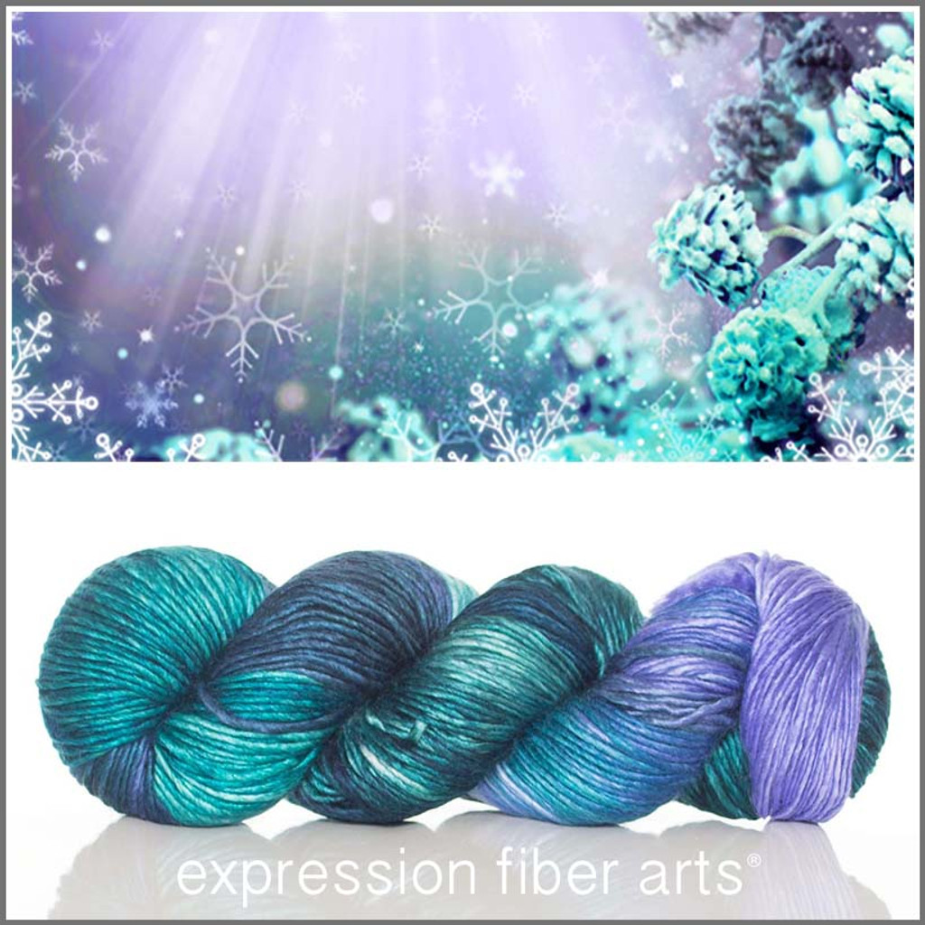 HOLIDAY MAGIC Limited Edition MERINO SILK PEARLESCENT WORSTED