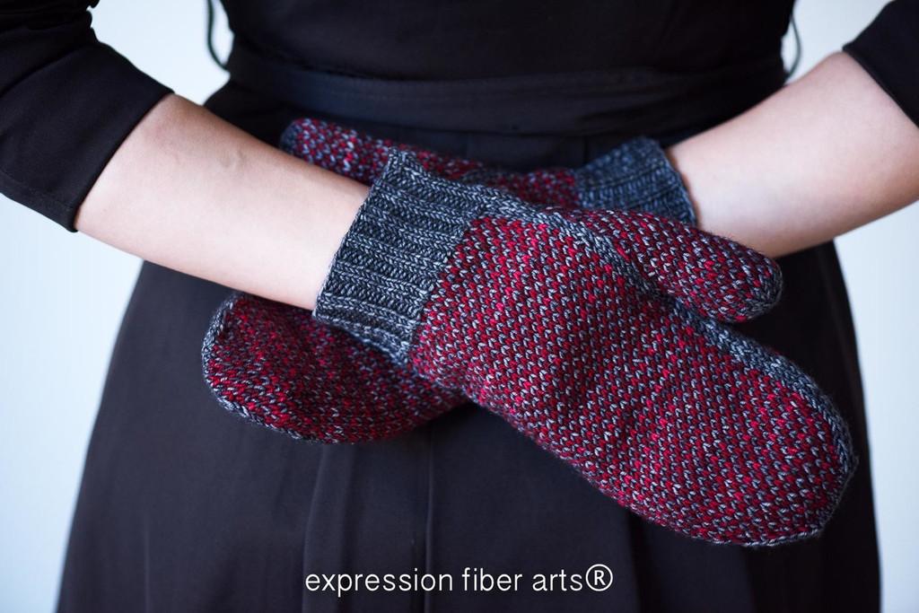 Kaminari Mittens and Hat Knitted Pattern