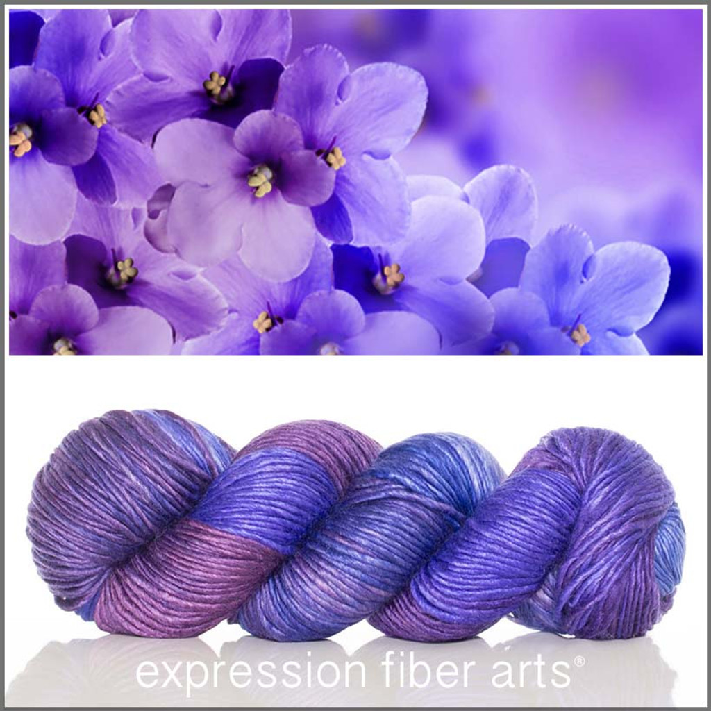 FEBRUARY VIOLET MERINO SILK PEARLESCENT WORSTED + Surprise Goody