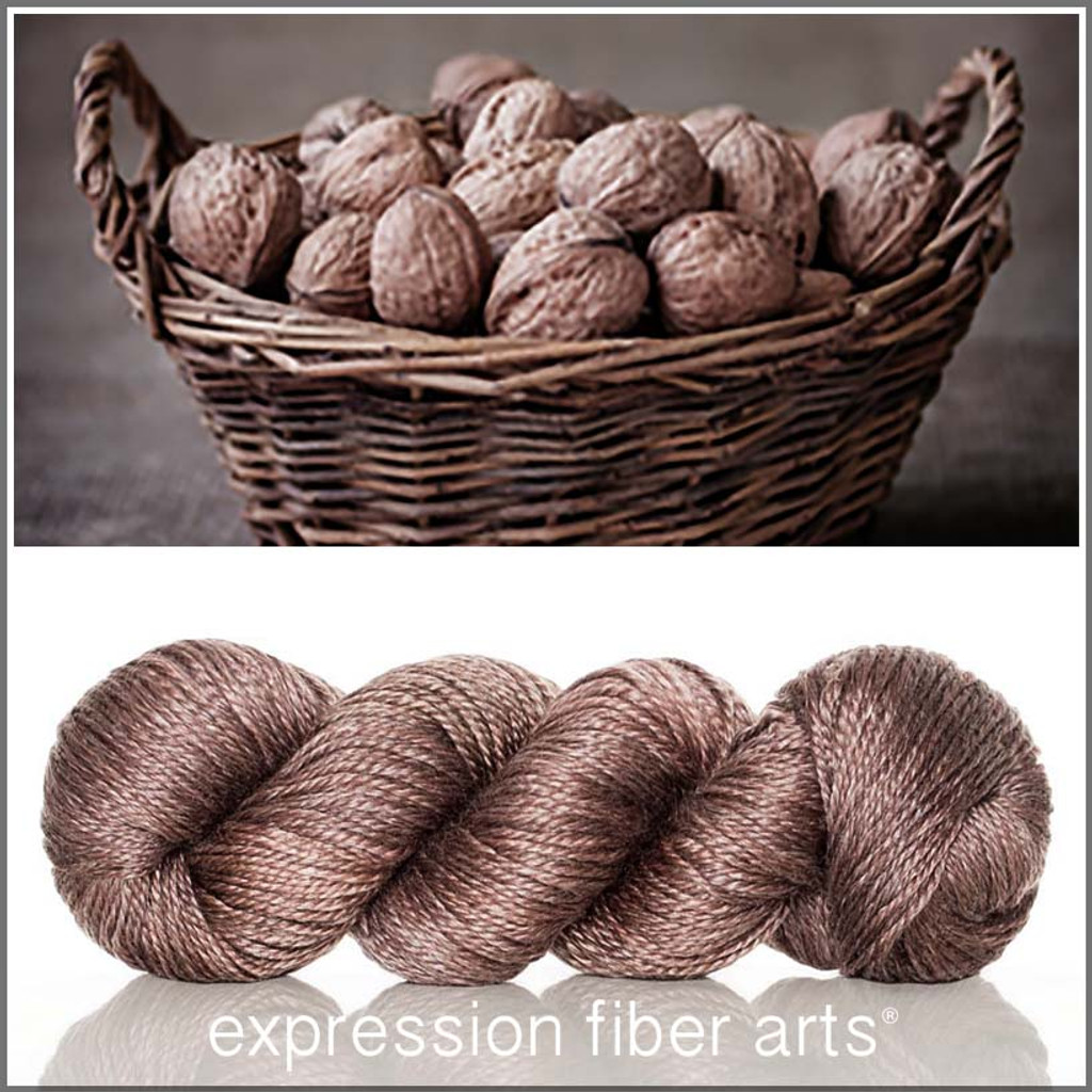 WALNUT 'LUSTER' SUPERWASH MERINO TENCEL WORSTED