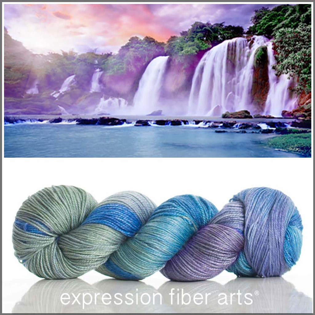ENCHANTED WATERFALL 'LUSTER' SUPERWASH MERINO TENCEL SPORT