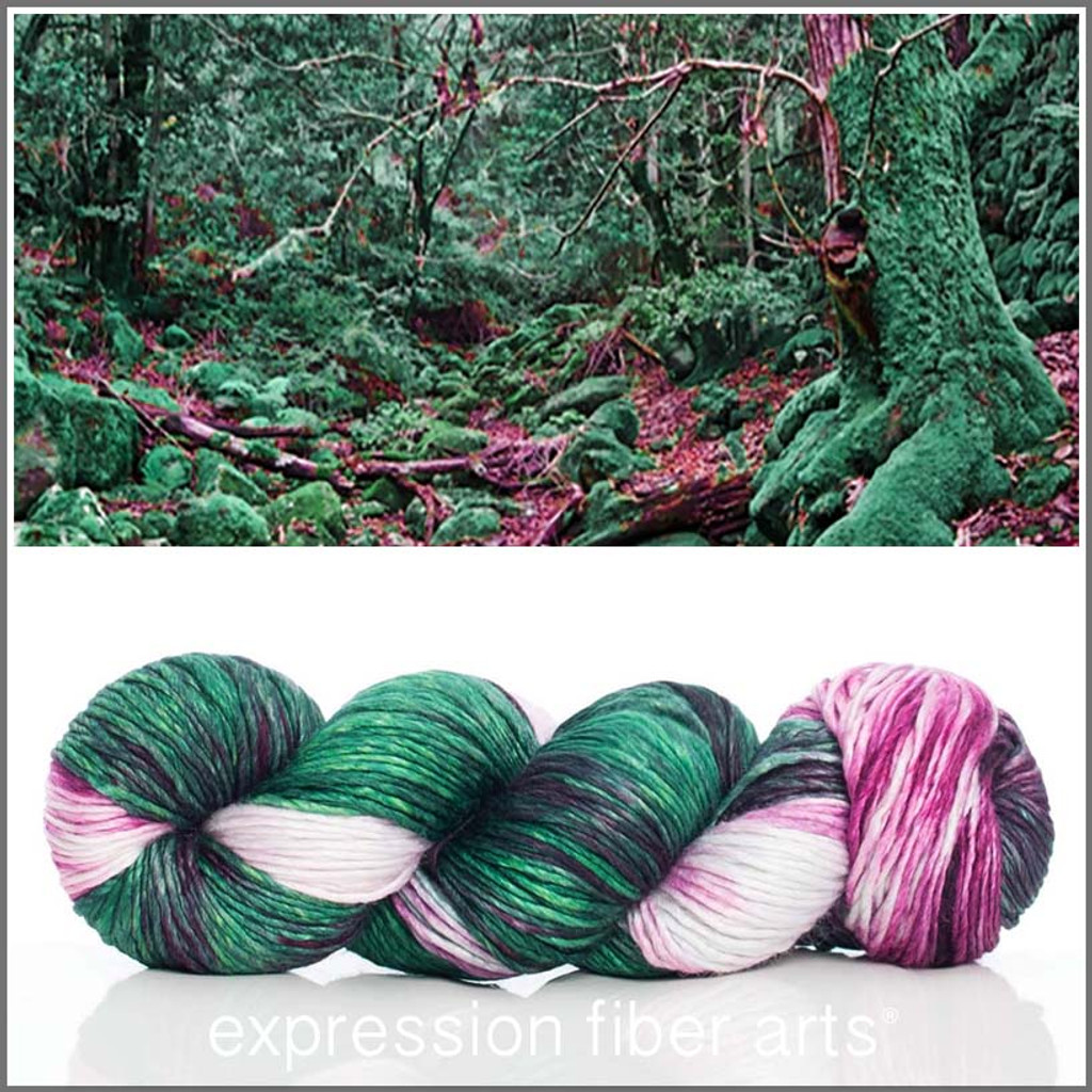 ENCHANTED FOREST SUPERWASH MERINO SILK PEARLESCENT WORSTED