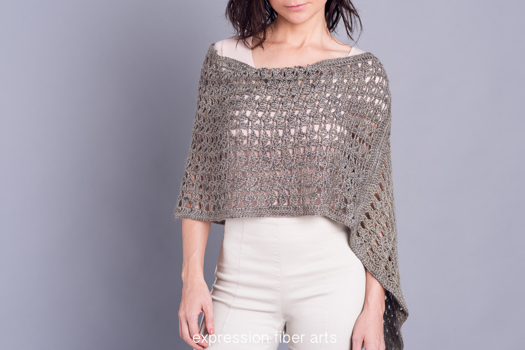 Global Connections Crochet Poncho Pattern