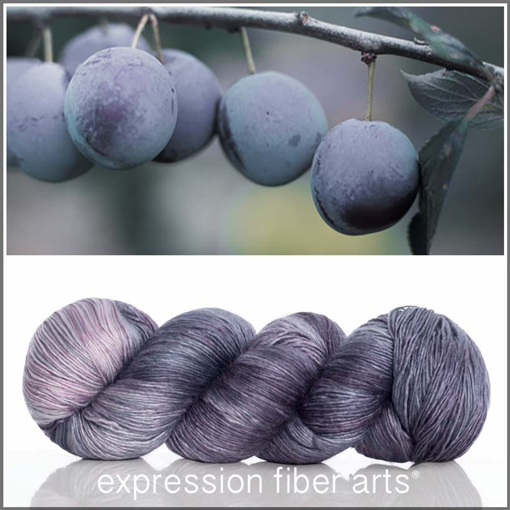 POWDERY PLUM SUPERWASH MERINO SILK PEARLESCENT FINGERING