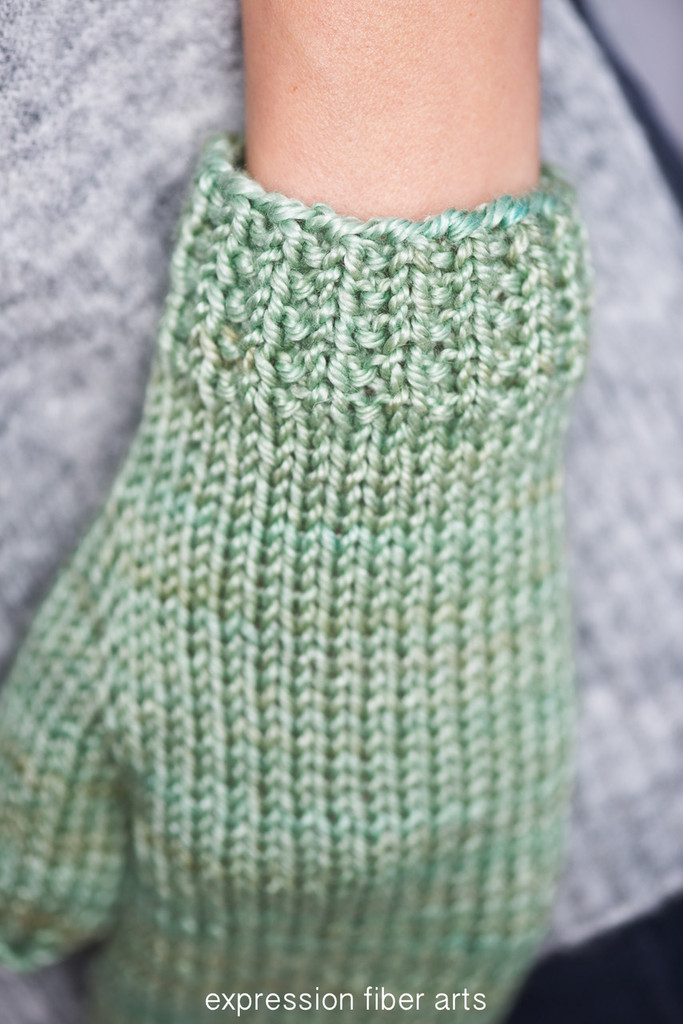Almond Latte Knitted Mitten Pattern