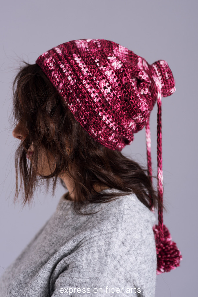 Cranberry Cream Convertible Cowl Hat Crochet Pattern