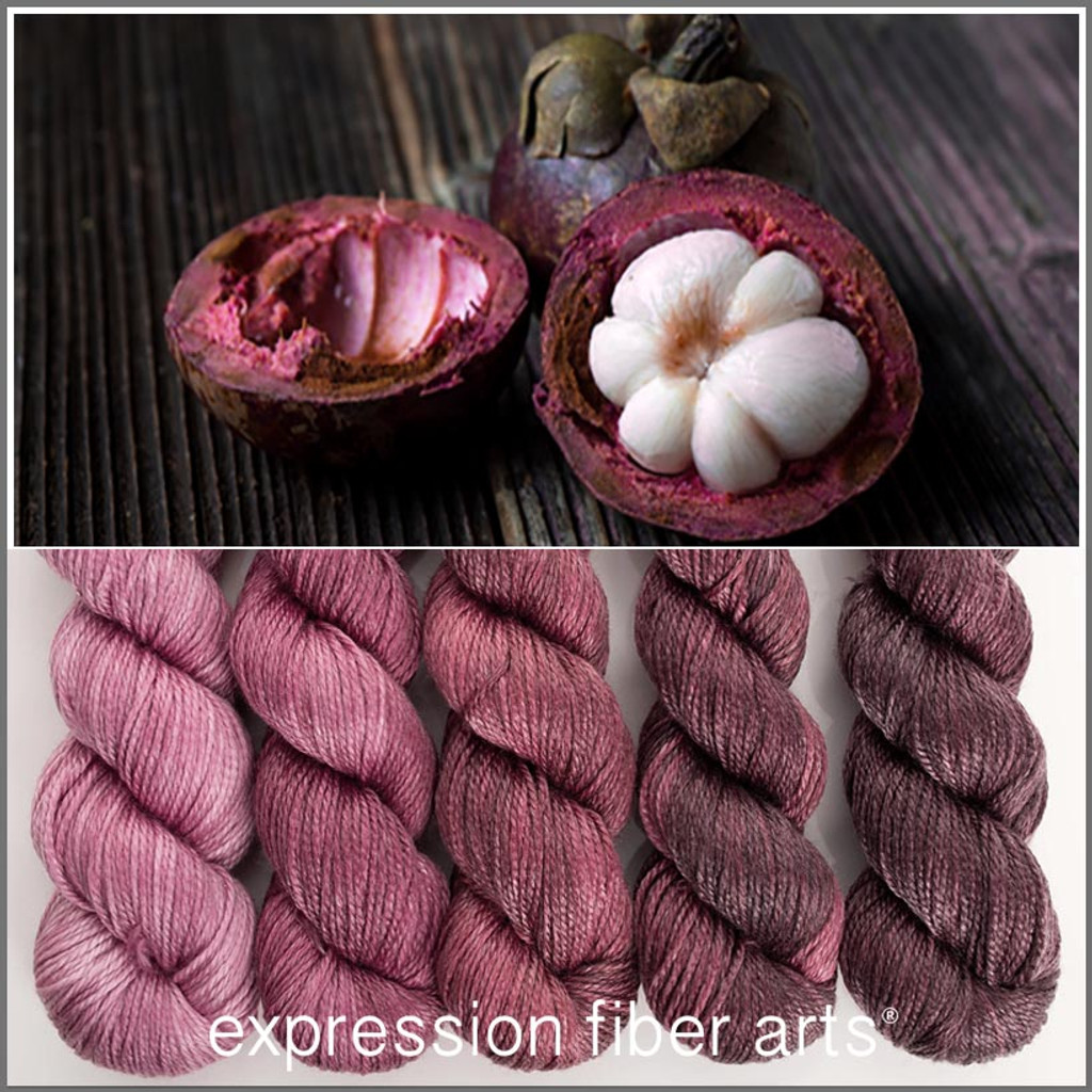 MANGOSTEEN HUES 'LUSTER' WORSTED KIT