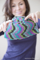 Free Crochet Electric Orchid Hat Pattern
