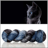 RUSSIAN BLUE 'PEARLESCENT' WORSTED