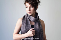 Mind the Gap Tube Scarf Free Knitted Pattern