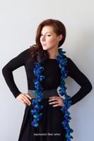 Through the Spectrum Crochet Spiral Scarf Pattern