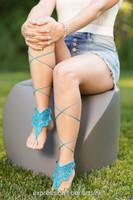 Flutterby Crochet Barefoot Sandals Pattern