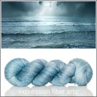 SEA BLUE YAK SILK LACE